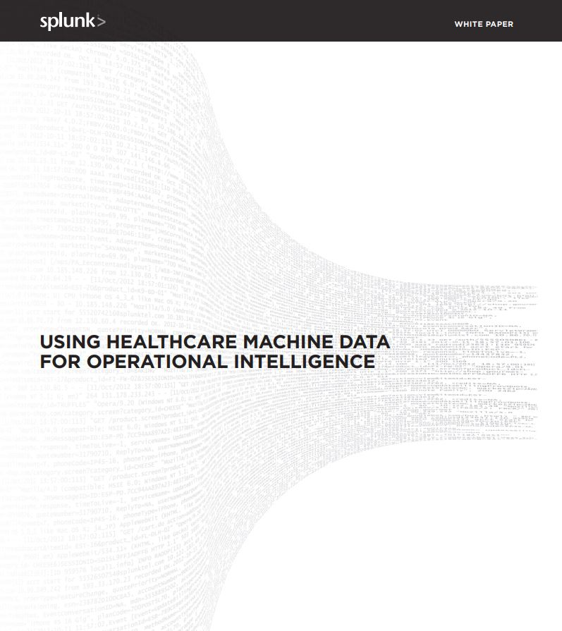 Using Healthcare Machine Data for Operational Intelligence