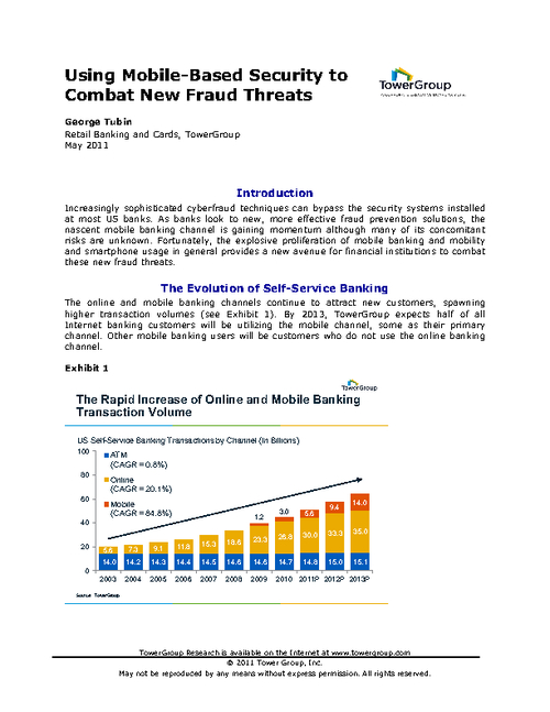 Using Mobile-Based Security to Combat New Fraud Threats
