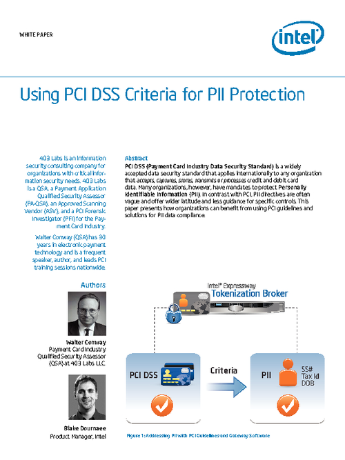 Using PCI DSS Criteria for PII Protection