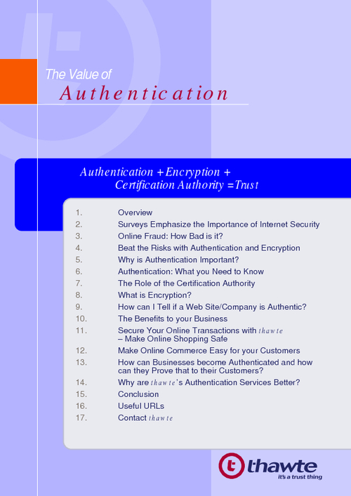 The Value of Authentication