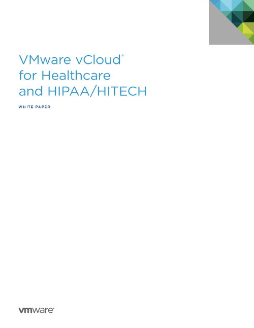 vCloud for Healthcare and HIPAA/HITECH