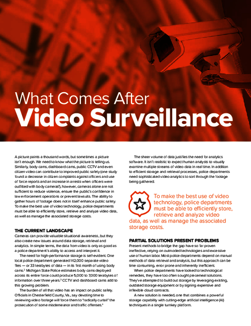 Video Surveillance Data: What's Next?