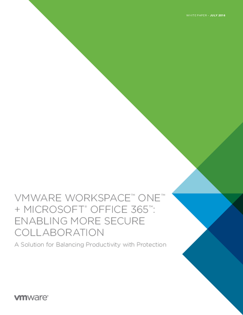 VMware Workspace ONE: Enabling More Secure Collaboration