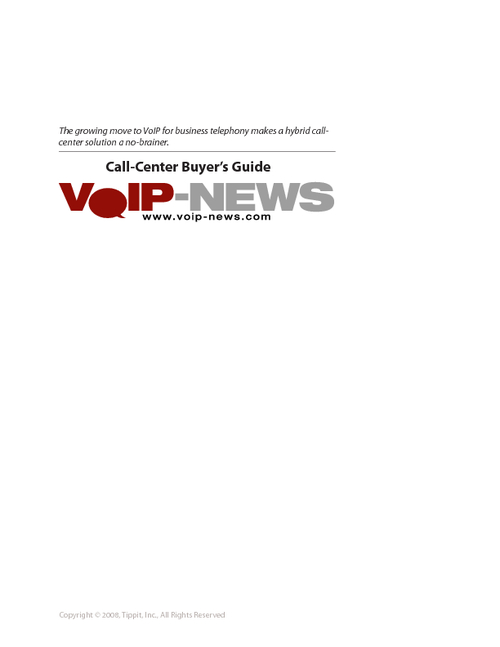 VoIP Call-Center Buyer's Guide