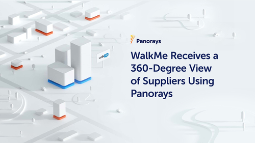 WalkMe Receives a 360-Degree View of Suppliers Using Panorays