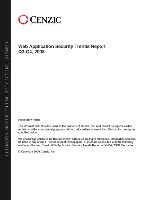 Web Application Security Trends Report