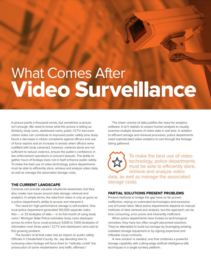 What Comes After Video Surveillance?