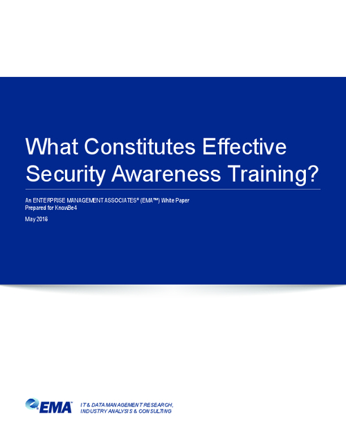 What Constitutes Effective Security Awareness Training?