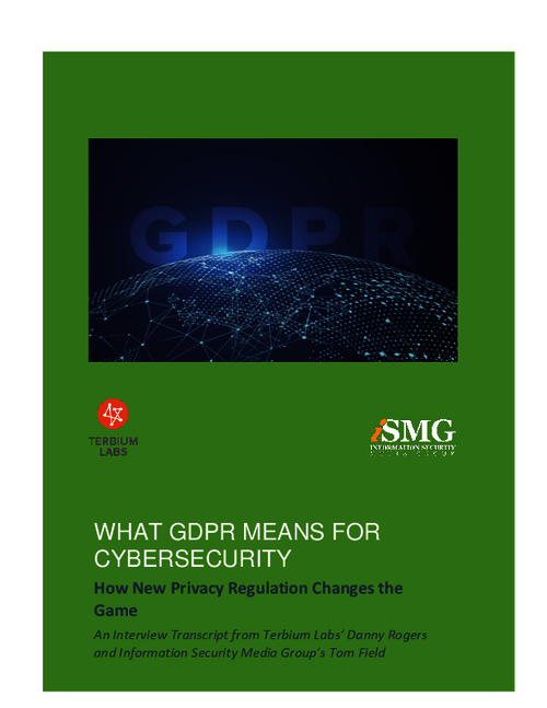What GDPR Means for Cybersecurity