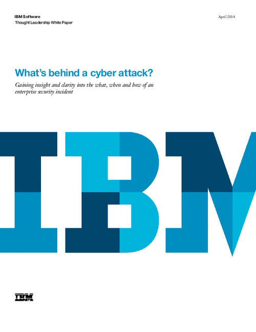 What's Behind a Cyberattack?