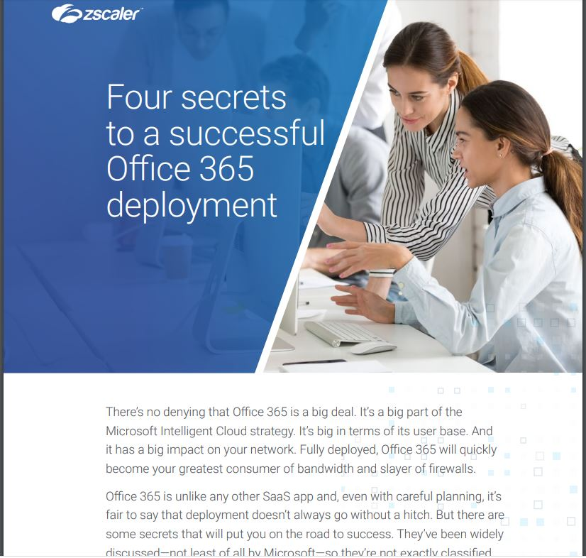 Four secrets to a successful Office 365 deployment