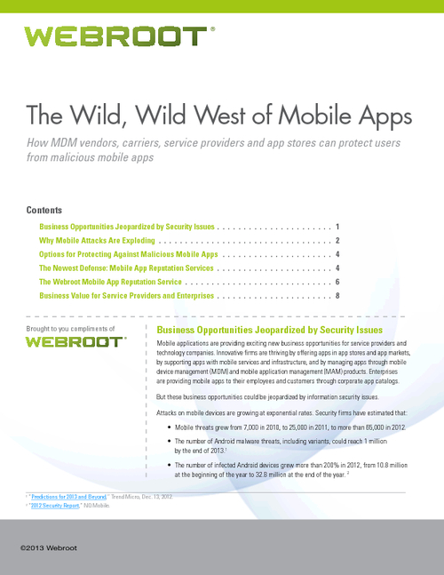 The Wild, Wild West of Mobile Apps