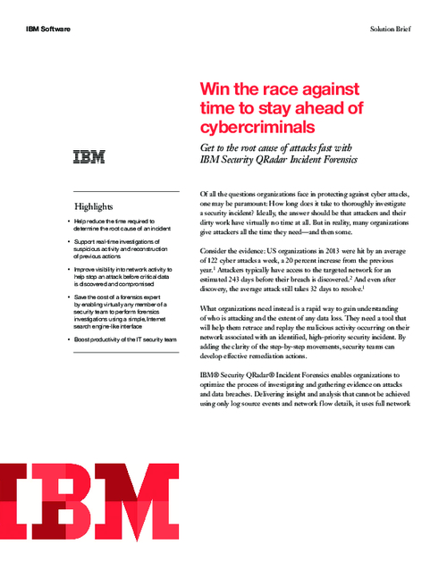 Win the Race Against Time to Stay Ahead of Cybercriminals