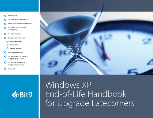 Windows XP End of Life Handbook for Upgrade Latecomers