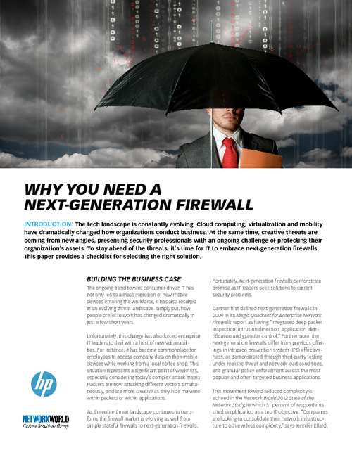 Why You Need a Next-Generation Firewall