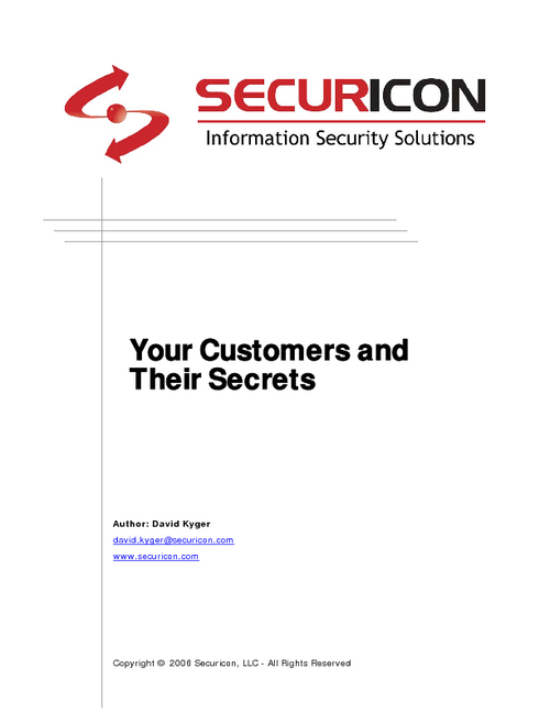Your Customers and Their Secrets