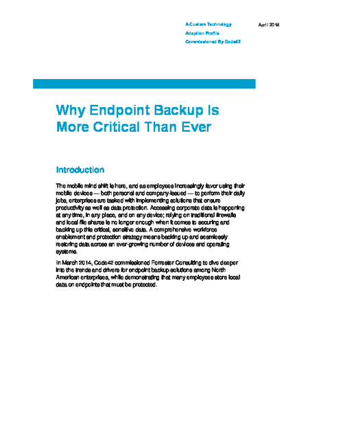 Why Endpoint Backup is More Critical Than Ever