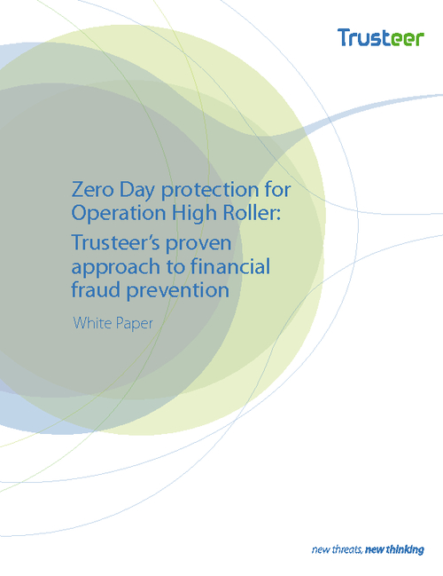 Zero Day Protection for Operation High Roller: Financial Fraud Prevention